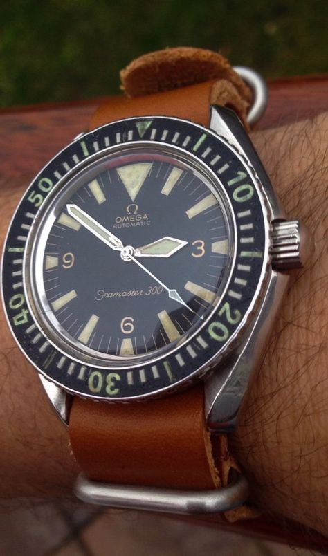 Vintage OMEGA Seamaster 300 Big Triangle Diver In Stainless Steel Circa 1960s - http://omegaforums.net