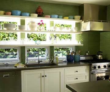 A Large Bank Of Windows Can Bring Much Needed Light To A Dim Kitchen.
