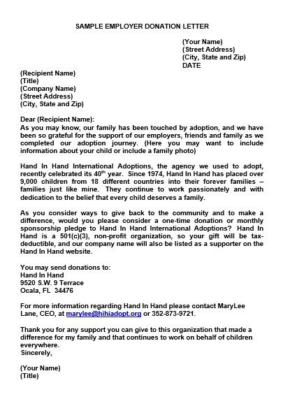 Donation Letters Samples For Pdf Word And Doc Check More At Http