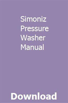 Simoniz Pressure Washer Manual Repair Manuals Repair Isuzu Ascender
