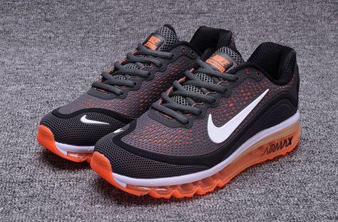 nike air max 2017 orange running shoes