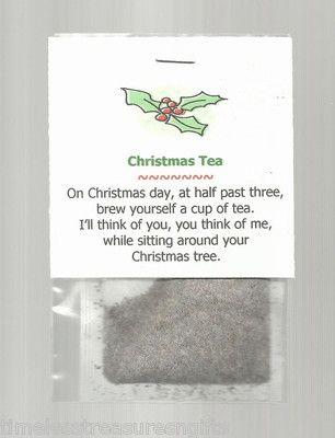 Christmas Tea Stocking Stuffer Favor Gift Beverage   eBay