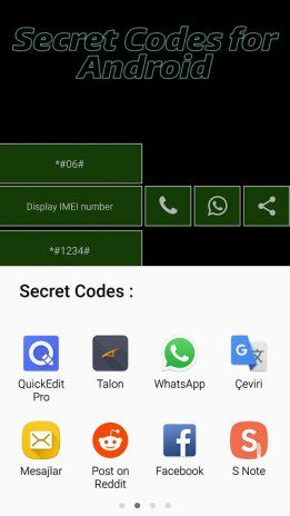 Phone secret codes for android v 1.5.0 Download APK for