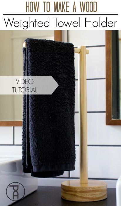 How To Make A Wood Weighted Towel Holder Hand Towel Holder