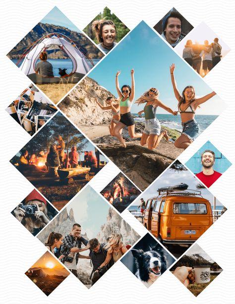 Multi Diamond Photo Collage Template | Photo collage ...