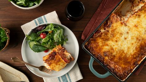 Cottage cheese, ricotta cheese, mozzarella cheese, and Parmesan cheese combine beautifully to make one addictive dish.