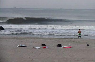 Hurricane Bertha Surfing Long Beach New York August 6 2014 Surfing Beach Surf Report