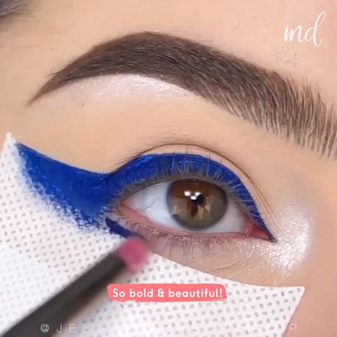 Nothing screams great eye look rather than this gorgeous blue one! By @jessicarose_makeup