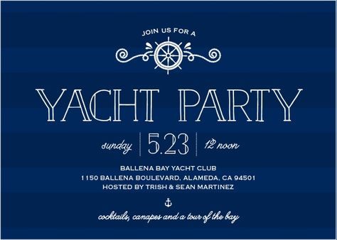 Stunning Yacht Party Invitations Yacht Party Boat Party Party Invitations