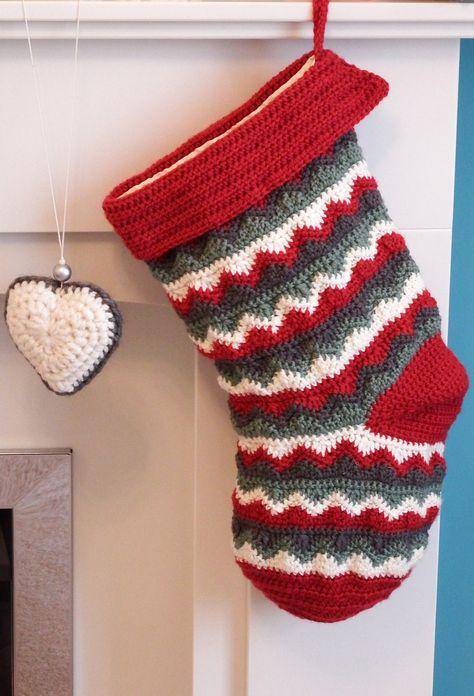 40 Crochet Christmas Stocking Patterns The Funky Stitch