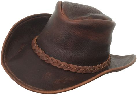 5df82d02c2a Vintage Genuine Stetson Billy Kidd Leather Cowboy Hat Feather Hat Band 7  1 8