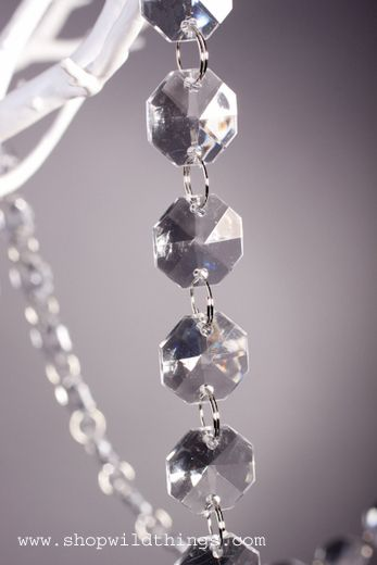 This awesome strand of high quality crystal clear acrylic beads is perfect for decorating a wedding tree.