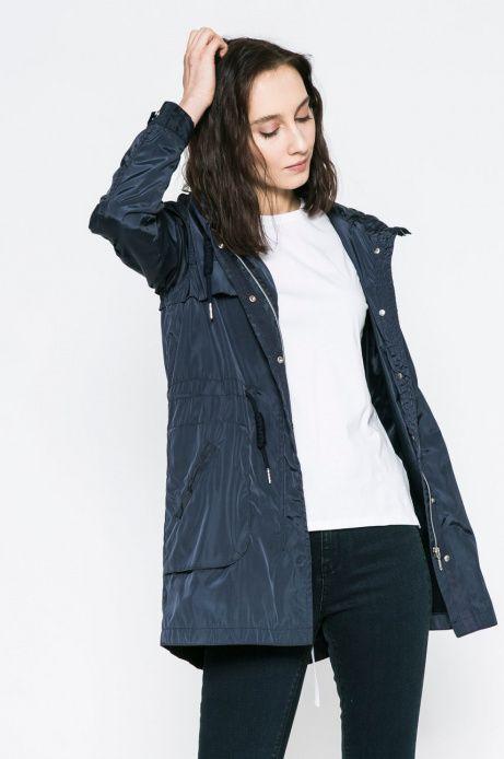 Woman S Wiosenna Kurtka Damska Z Kapturem Granatowa Jackets Fashion Coat