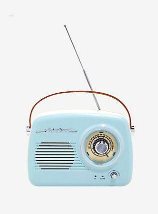 Blue Vintage Wireless Radio Speaker Retro Speakers Vintage Radio Radio