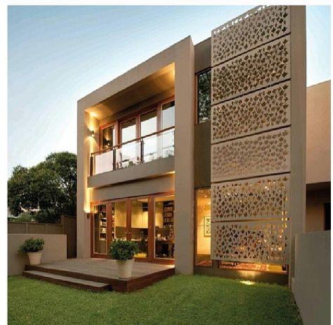 Back house facade - cement render