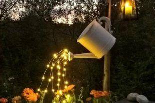 Wasserfall Lichterkette Giesskanne Leuchtet 5 Six Ft Beste Garten Dekoration Gartendekoration Fruhlingsgarten Licht Im Garten