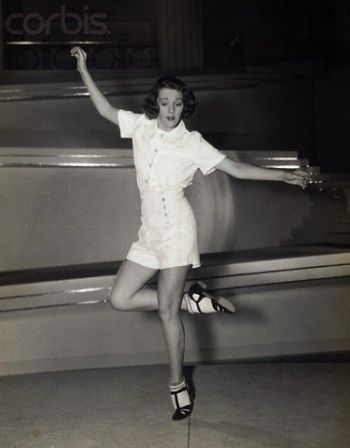 Ruby Keeler tap dancing. Love the shoes with socks.