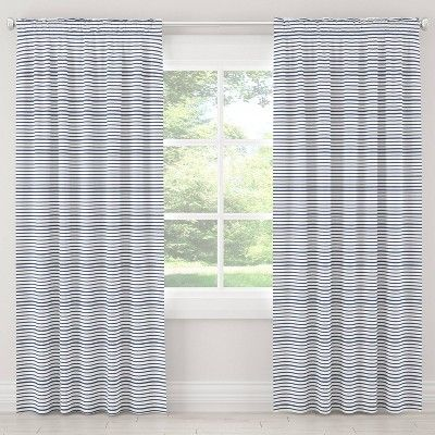 50 X120 Nautical Stripped Blackout Curtain Panel Navy Cloth Co Multicolored Panel Curtains Curtains Blackout Curtains