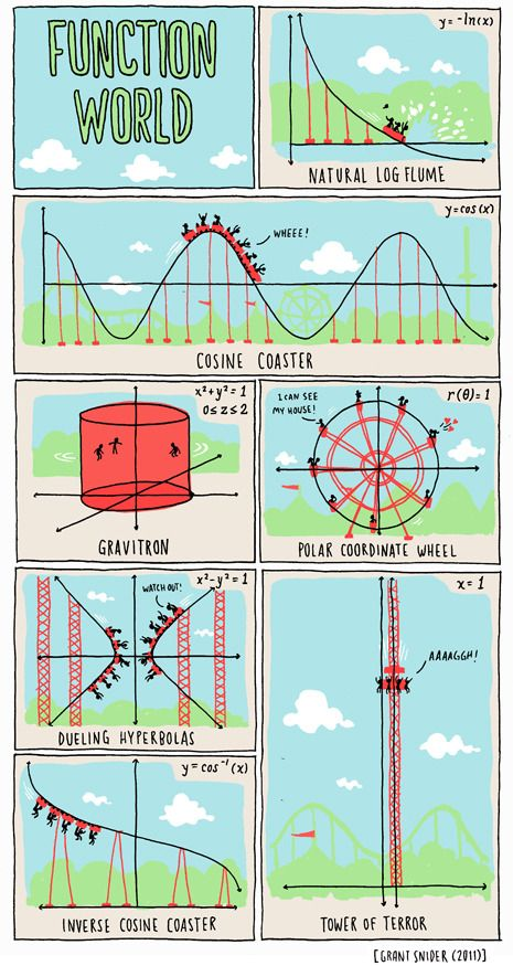 Function World Poster From Incidental Comics Math Cartoons Math Humor Math Formulas