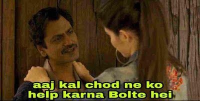 Sacred Games Gaitonde Aaj Kal Ch D Ne Ko Help Bolte Hei Meme Template Memes Funny Dialogues