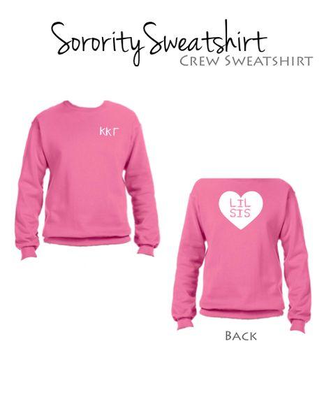 Kappa Kappa Gamma Little Sweatshirt I Heart Style $34.98