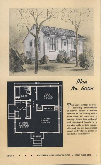 Low Cost Homes And Summer Cottages Southern Pine Assoc Free Download Borrow And Streaming Tiny House Floor Plans Cottage House Plans Vintage House Plans