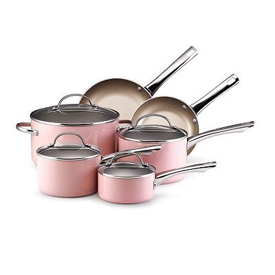 would like a mixture this color cookware and stainless steel.