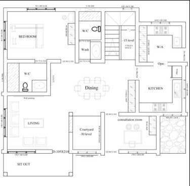 1918 Sqft Budget 3 Bedroom Modern Villa With Courtyard And Free Plan How To Plan Budget House Plans Courtyard House Plans