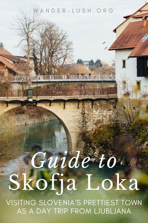 Looking for the perfect Ljubljana day trip? Here's everything you need to know about travelling to Skofja Loka – including transport info and the best things to do in Skofja Loka, plus a detailed map, itinerary and travel video. #SkofjaLoka #Slovenia #Ljubljana #LjubljanaDayTrip #ThingsToDoInSlovenia #Europe #Balkans