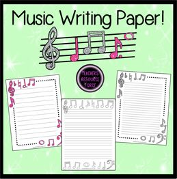 music themed writing paper activities music education and  music themed writing paper activities music education and writing paper