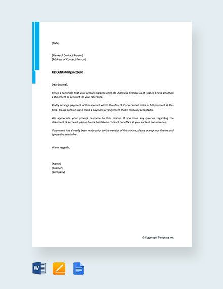 Free Friendly Payment Reminder Letter Lettering Resignation
