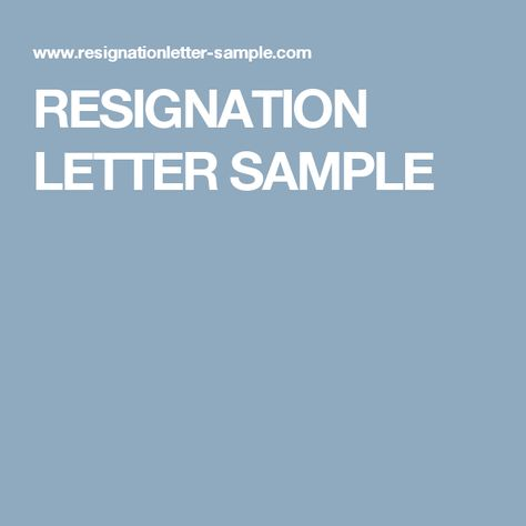 Benjamin Hall (bh09344) on Pinterest - sample resignation letter format example