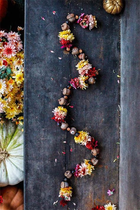 Best of DIY   Fall Floral Garland   Poppytalk