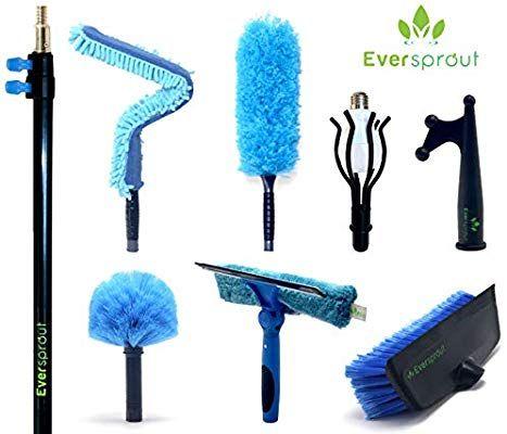 Dusting Pole And Attachments Utility Hooks Telescopic Pole Extension Pole