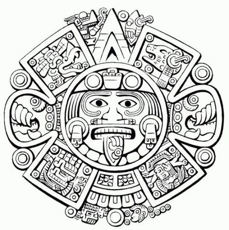 Coloring Page Aztec Mythology Gods And Goddesses 60