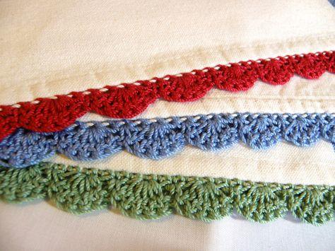 21 Tea Towel Edgings Ideas Crochet Edging Crochet Borders Crochet
