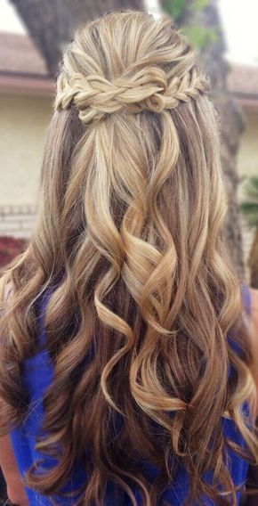 My Baby Cousin S Prom Is Coming Up And All Her Friends Have Been Asking Me To Do Their Hair This Wi Prom Hairstyles For Long Hair Hair Styles Dance Hairstyles