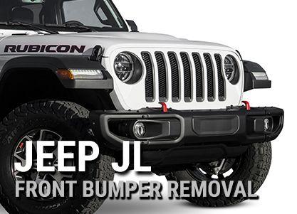2018 Jeep Wrangler Jl Front Bumper Removal Jeep Jeeplife Jeepwrangler 2018jeepjl 2018jeepwrangler Wrangler Jl Jeep Jeep Jl
