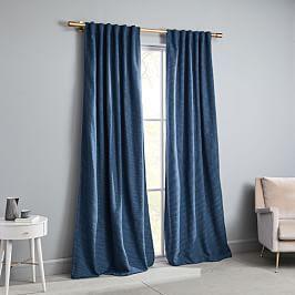 Echo Print Curtains Set Of 2 Gold Dust In 2020 Blue Velvet