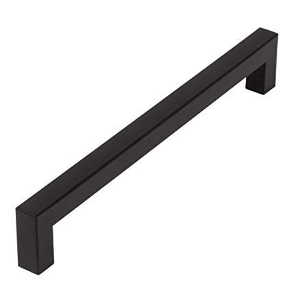 10 Pack Flat Black Square Bar Cabinet Pulls 7 5 Hole Center
