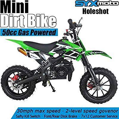 Amazon Com Syx Moto Kids Dirt Bike Holeshot X 50cc Gas Power Mini Dirt Bike 23inches Seat Height Dirt Off Roa Dirt Bikes For Kids Pit Bike Off Road Motorcycle
