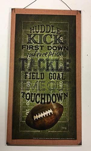 Football Touchdown Huddle Kick Field Goal Sports Wall Art