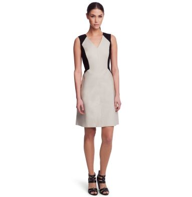Cailey Twill and Ponte Dress - Kenneth Cole