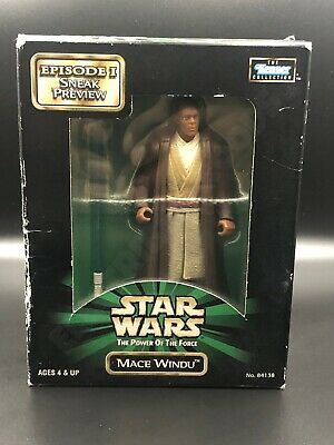 STAR WARS POWER OF FORCE MACE WiNDU in NEW MINT BOX EPISODE 1 SNEAK PREVIEW 1998
