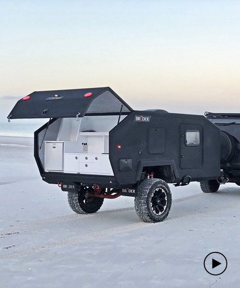 the bruder EXP-4 is a rugged off-road camper with teardrop amenities