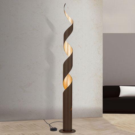 Lampa Stojaca Led Controversia Zloty Klosz Led Floor Lamp Floor Lamp Lamp