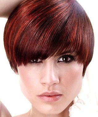 Elegante Kurzhaarfrisuren Mit 2 Farben Rot Kurzhaarfrisuren