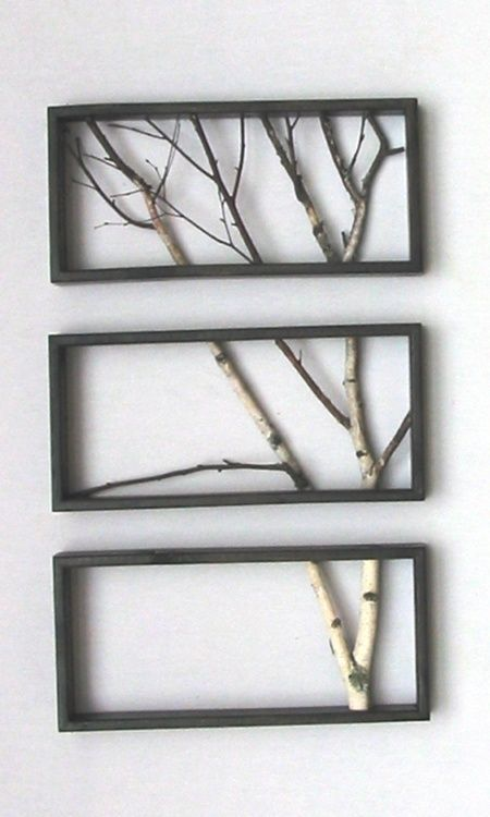Frame braches in a pattern to create an indoor tree!