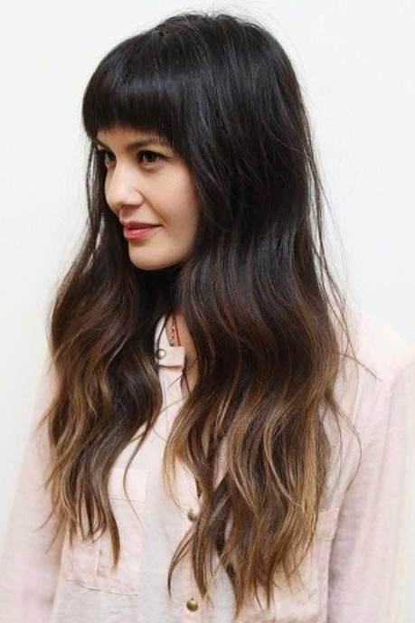 Brown Ombre Hair Color Ideas Hair Styles Brown Ombre Hair Long Hair With Bangs