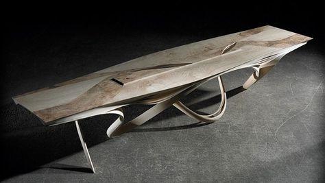 food table enignum designer wooden furniture joseph walsh